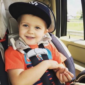 Wilson in car