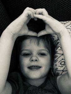 Wilson heart BW